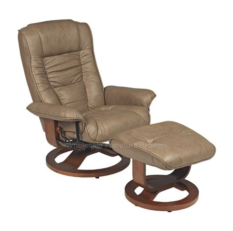 mario r 084 series leather swivel recliner and