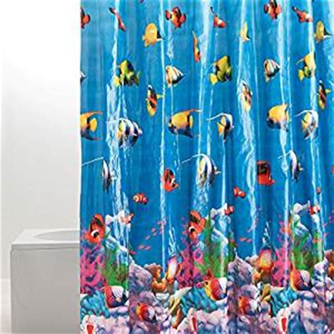 shower curtain hooks tropical fish shower curtain co uk kitchen home Fish