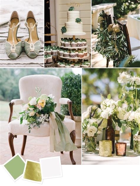 sage gold ivory bride walk