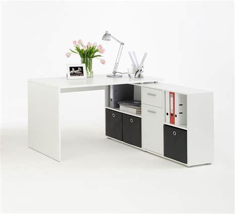 bureau avec angle bureau angle blanc avec rangements