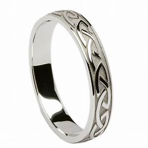 irish wedding ring celtic knotwork mens wedding band at With mens irish wedding rings