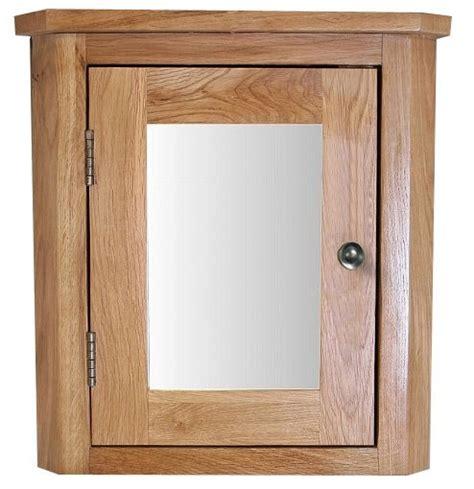 Oak Corner Bathroom Cabinet by Solid Oak Wall Mounted 450mm Corner Bathroom