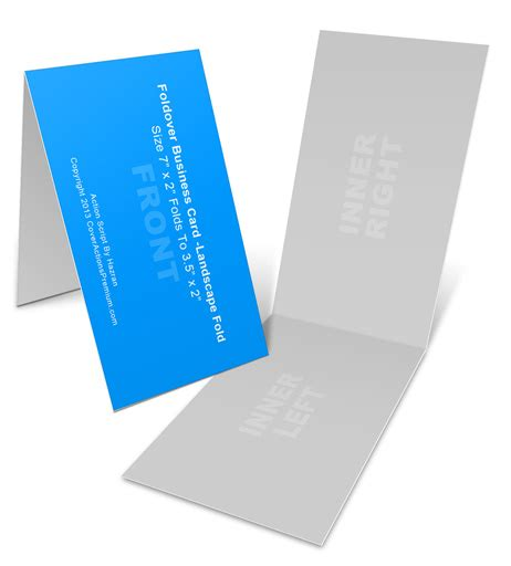 landscape foldover business card mock ups xin cover