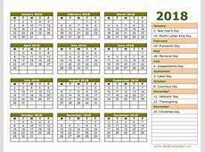 Calendar 2018 Printable Calendar Free Calendar Template 2018