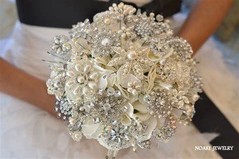 Classic heirloom pearl brooch bouquet deposit on a