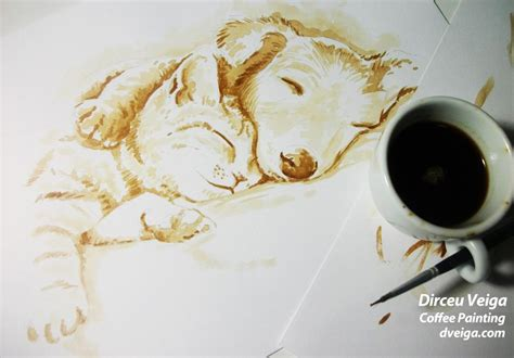 Archived 40 pictures in two formats. Awesome coffee paintings by Dirceu Veiga | Art-Spire
