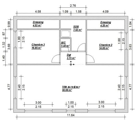 plan maison 騁age 4 chambres plan maison 4 chambres 130m2