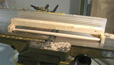 making conical dowels  spindles   jointer