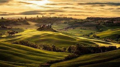Tuscany Hills Rolling Italy Wallpapers Landscape Val