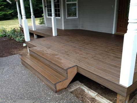 Installing Trex Decking On Stairs by Composite Decking Stairs Flauminc