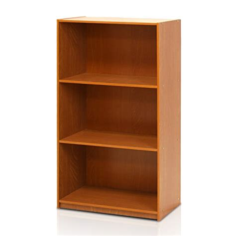 Furinno 99736lc Basic 3tier Bookcase Storage Shelves
