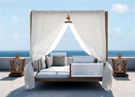 King Size Canopy Bed With Curtains by Smania Amalfi Gazebo Modern Garden Furniture