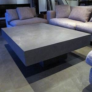 table basse beton gris clair table basse beton table With table basse design beton