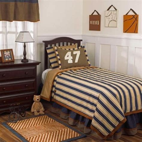navy and brown bedding navy blue and brown striped sports kids full size boys discounted bedding set ebay big boy