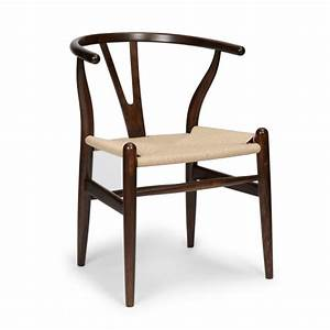 Hans Wegner Chair : hans j wegner style wishbone chair dark brown hans j ~ Watch28wear.com Haus und Dekorationen