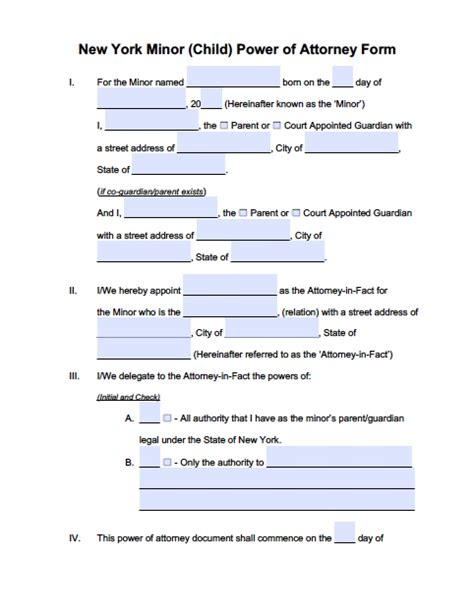 blank power of attorney form ny power of attorney form ny for india archives