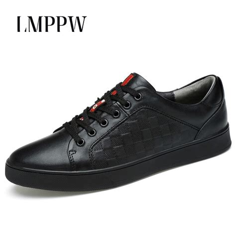 Genuine Leather Men Shoes Luxury Brand Lace