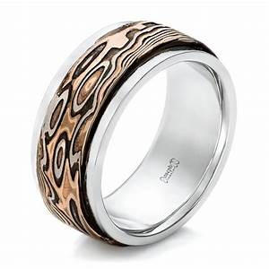 custom black diamonds and hammered rose gold men39s wedding With mens custom wedding rings