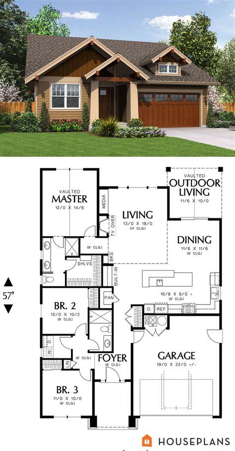 house design plans 1500 sft cozy craftsman cottage plan houseplans plan 48