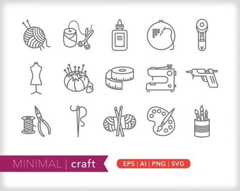 craft  icons homemade hobby icons eps ai png