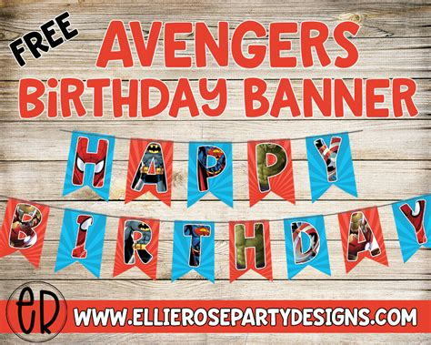 avengers birthday party printables