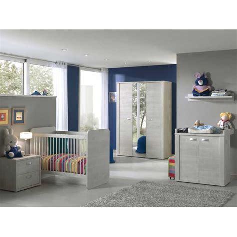 chambre bébé complète avec lit évolutif coloris chêne blanc