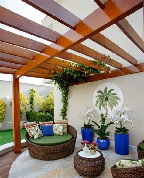 pergola de madera  policarbonato cobertizo terraza