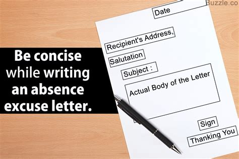tips  examples  writing  absence excuse letter
