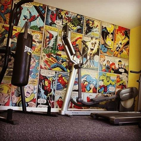 superhero home gym wall mural marvel comics avengers