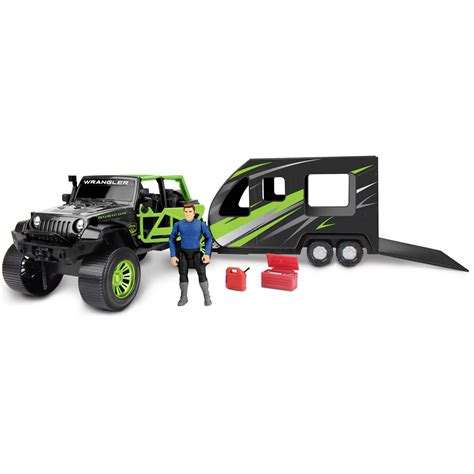 jeep set adventure force jeep with toy hauler set deluxe play sets