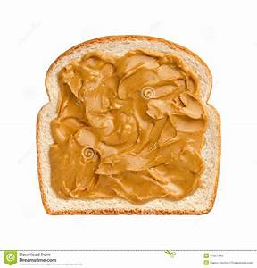 Peanut Butter on Bread stock image. Image of creamy, bread ...