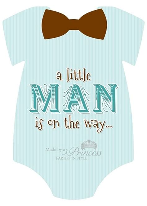 man  sided baby shower invitation