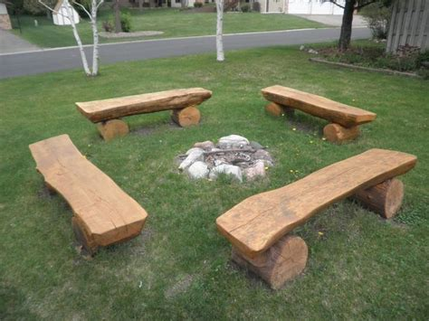 25 best ideas about log benches on rustic