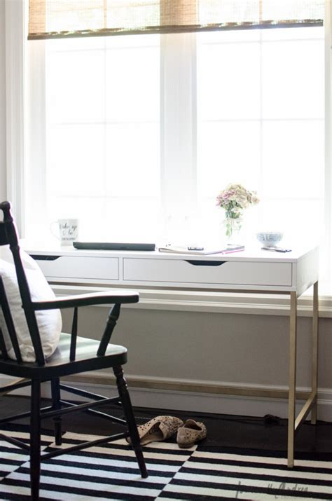 u shaped desk ikea hack kate spade inspired ikea desk personally andrea kate