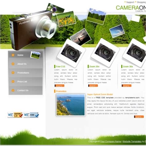 Camera Free Website Templates In Css, Html, Js Format For