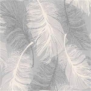 Papier Peint Rayé Gris Et Blanc : tachet gris plume papier peint blanc et argent brillant ~ Dailycaller-alerts.com Idées de Décoration