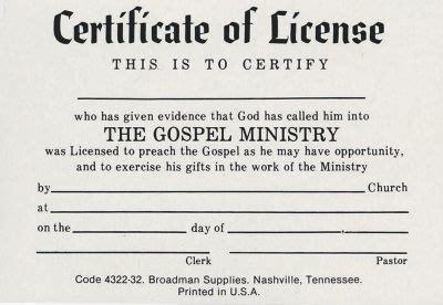 license  minister billfold lifeway