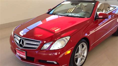 Top 5 convertibles with the best cargo space. 2011 Mercedes E-Class E350 Convertible At The Red Noland Pre Owned Center - YouTube