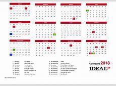 calendario anual 2018 Carbonmaterialwitnessco