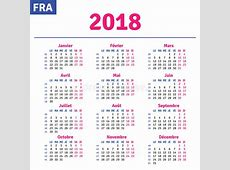 Fransk kalender 2018 vektor illustrationer Illustration