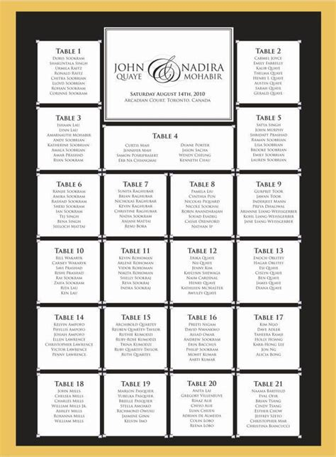 wedding seating chart templates   psd