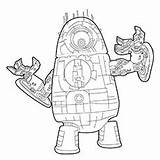 Robot Alien Coloring Pages Vs Predator Cute Printable Games Cartoon Coloringonly Coloringgames sketch template