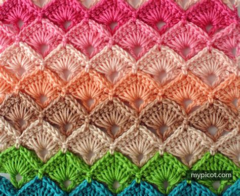 Green Throw Rug by Mypicot Free Crochet Patterns