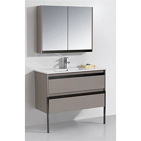 Inexpensive Bathroom Vanity Sets by Small Wall Hung Vanity Cabinet Set Bgss078 1000