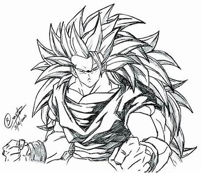 Goku Coloring Super Saiyan Pages Ssj3 Dragon