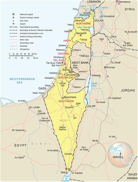 israel map jerusalem asia