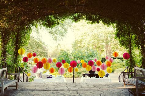 whimsical outdoor wedding reception decor onewed