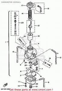 Yamaha Yz250k 1983  1984 Carburetor Yz250k  L
