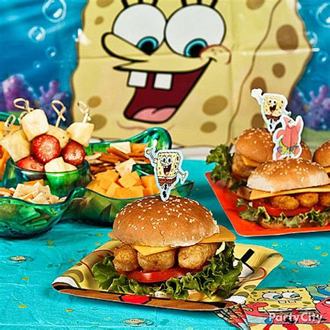 spongebob cuisine spongebob ideas spongebob birthday ideas