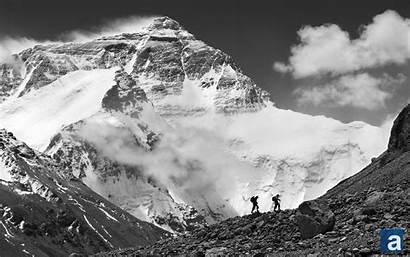 Everest Mount Wallpapers Tibet Border Mt Nepal
